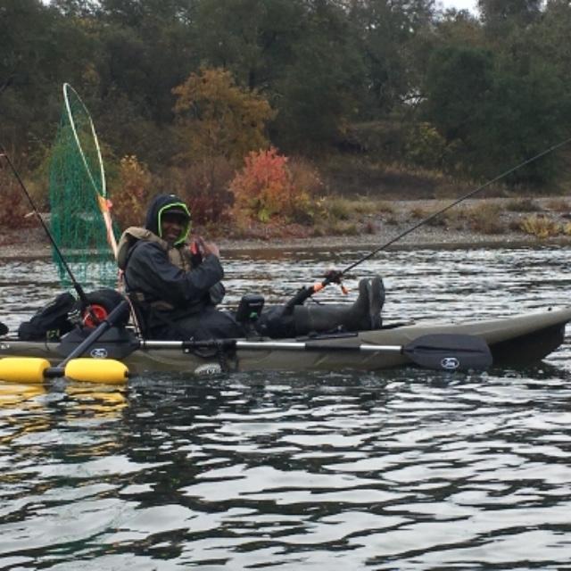 BKC UH-RA220 11 Foot 6 Angler Sit On Top Fishing Kayak (2pc Paddles, Seat &  Rudder)