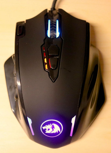 Redragon Impact M908 RGB MMO Laser Wired Gaming Mouse with